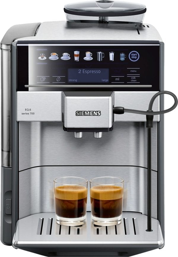 Espresso-/ kaffemaskine fra Siemens i rustfrit stål TE617203RW