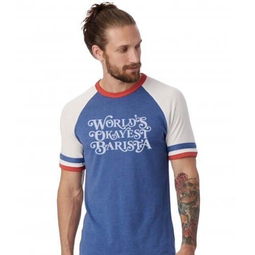 Department of Brewology - World's Okayest Barista - T-Shirt (Unisex)