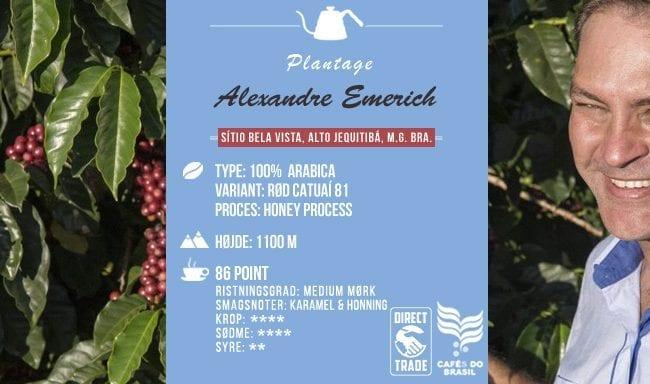 Alexandre Emerich - Arabica Rød Catuai 81 - 86 SCA Point - Brasilien