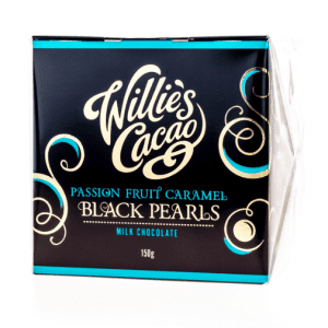 Willie's Cacao - Passion Fruit Caramel Black Pearls 150g