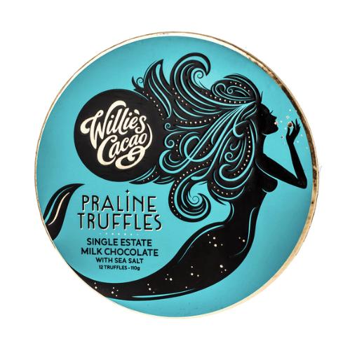 Willie's Cacao - Praline Truffles Milk Chocolate with Sea Salt 110g