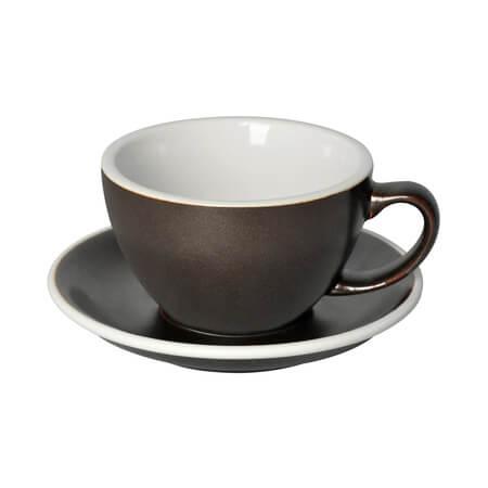 Loveramics Egg - Cafe Latte 300 ml Kop & underkop i gunpowder farve